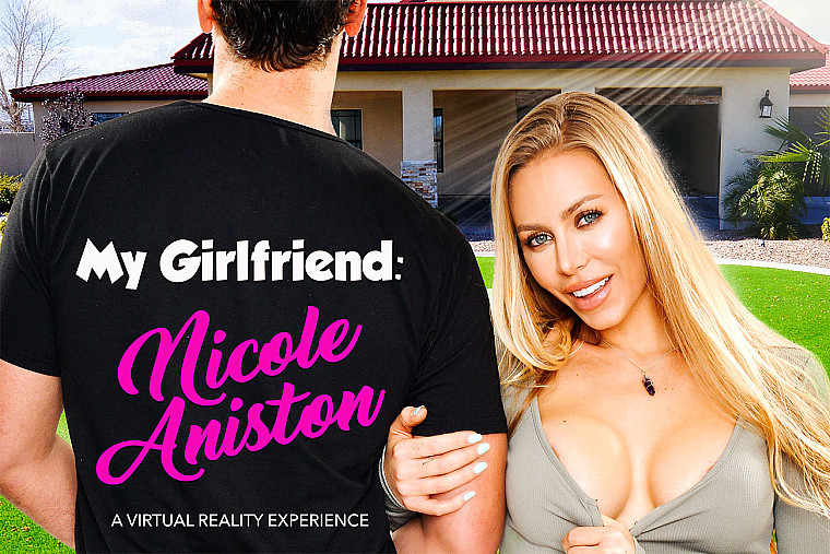 Nicole Aniston fucking in the bed with her tits vr porn