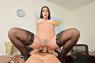 Rachel Starr fucking in the chair with her big tits vr porn - Sex Position 4