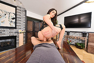 Valentina Nappi fucking in the table with her natural tits - Sex Position 3