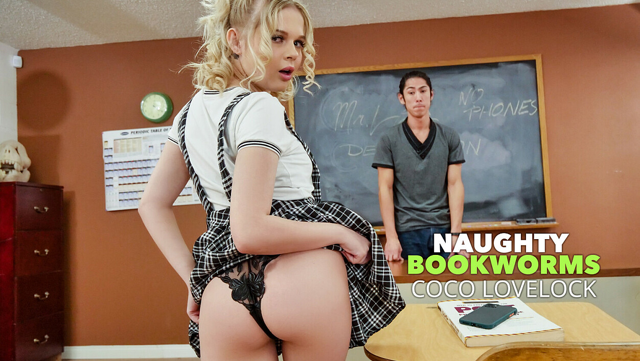 Coco Lovelock feels naughty and fucks her Professor in detention