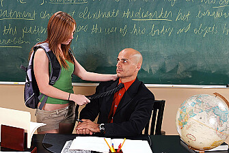 Dani Jensen fucking in the classroom with her piercings - Sex Position 1