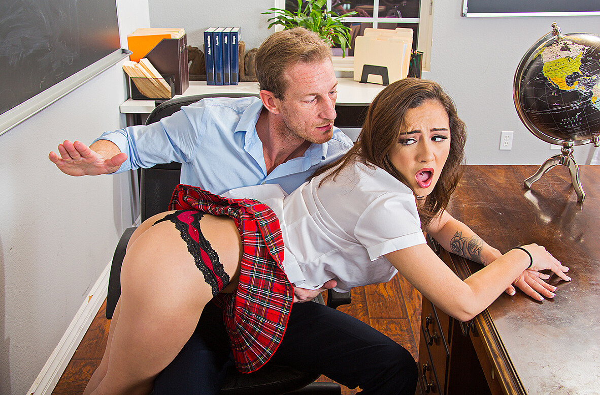 Watch Lily Jordan and Ryan Mclane 4K video in Naughty Bookworms
