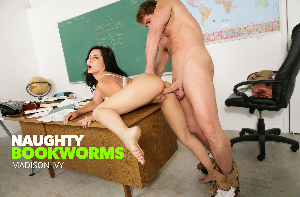 Watch Madison Ivy and Evan Stone American video in Naughty Bookworms