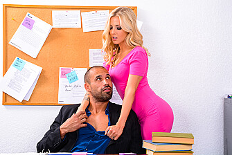 Karla Kush fucking in the desk with her tattoos - Sex Position 1