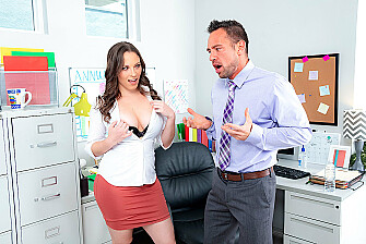 Horny Lily Love Talks Office Orgies at the Water Cooler - Sex Position 1