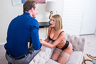 August Ames fucking in the couch with her tattoos - Sex Position 2