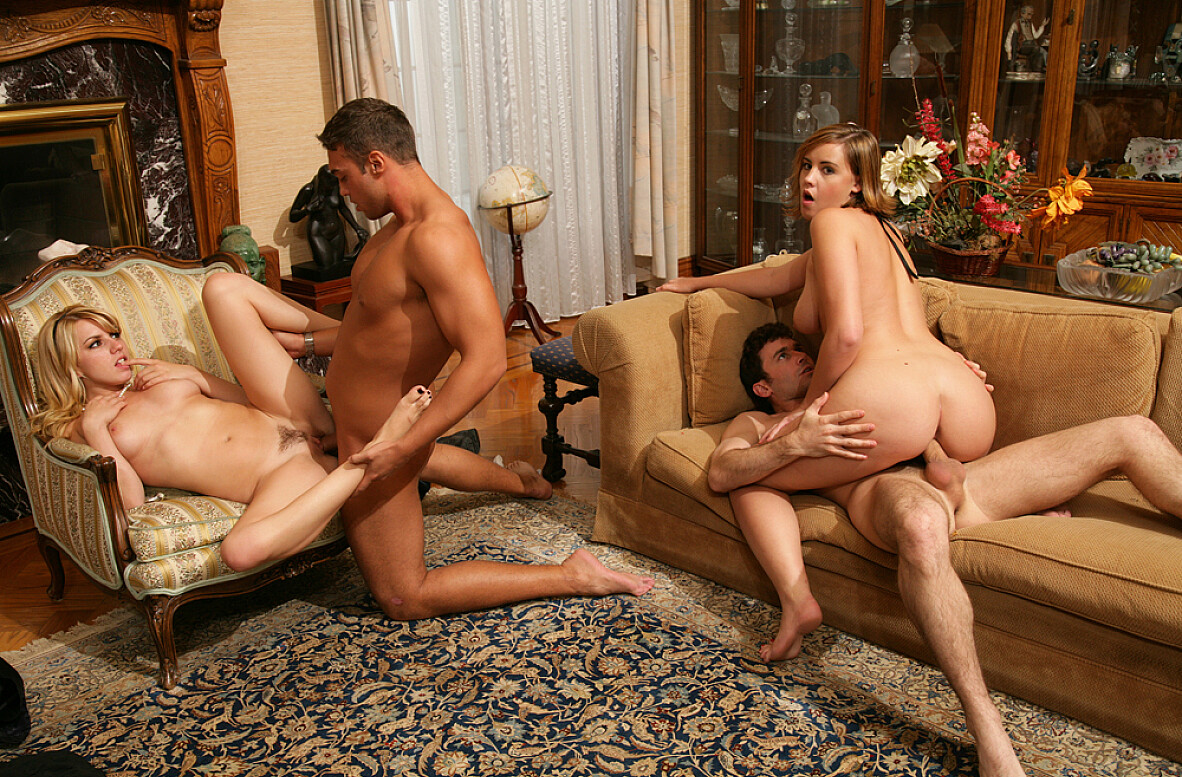 Watch Brooke Lee Adams, Lexi Belle, James Deen and Rocco Reed video in Naughty Rich Girls