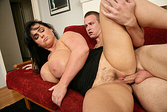 Indianna Jaymes fucking in the couch with her hairy pussy - Mar 18, 2009 - picture 4