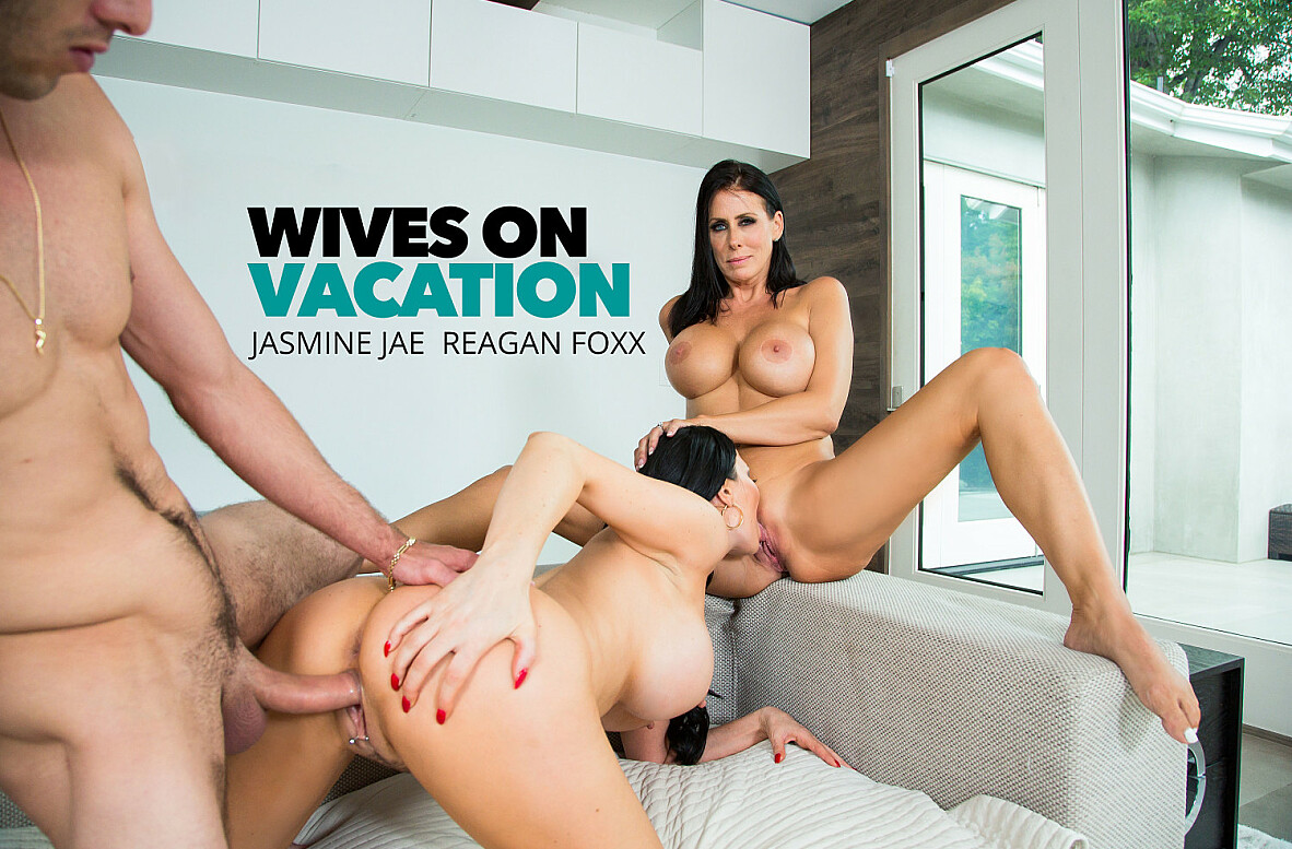 Watch Jasmine Jae, Reagan Foxx and Lucas Frost 4K video in Wives on Vacation
