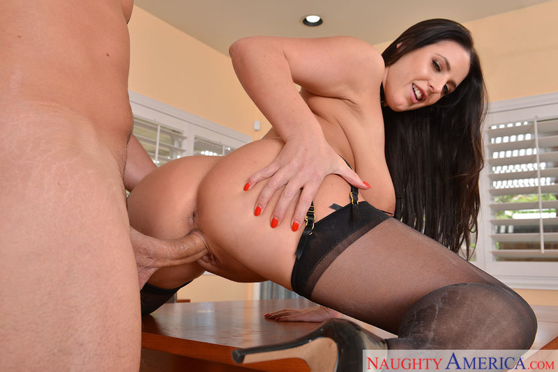 Angela White fucking in the dining room with her bubble butt - Sex Position 1
