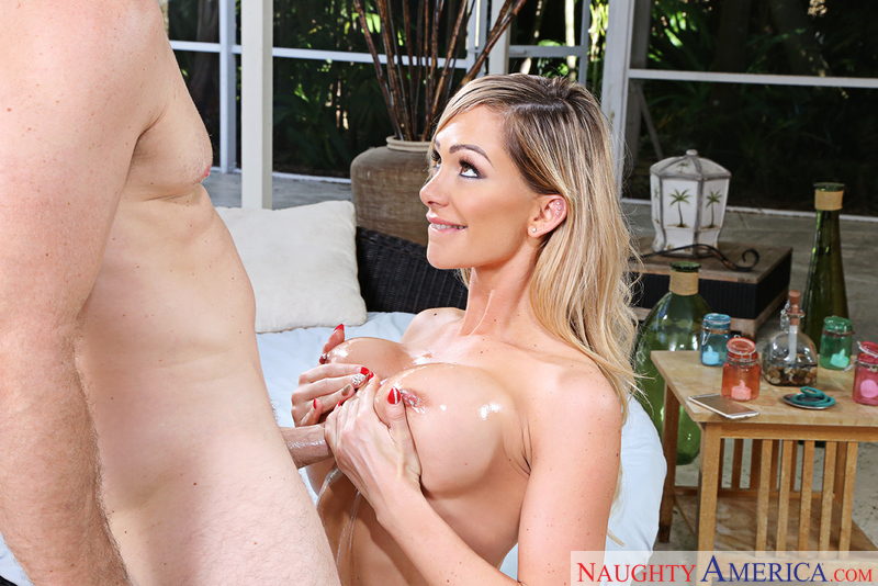 Destiny Dixon fucking in the patio furniture with her tits - Sex Position 2