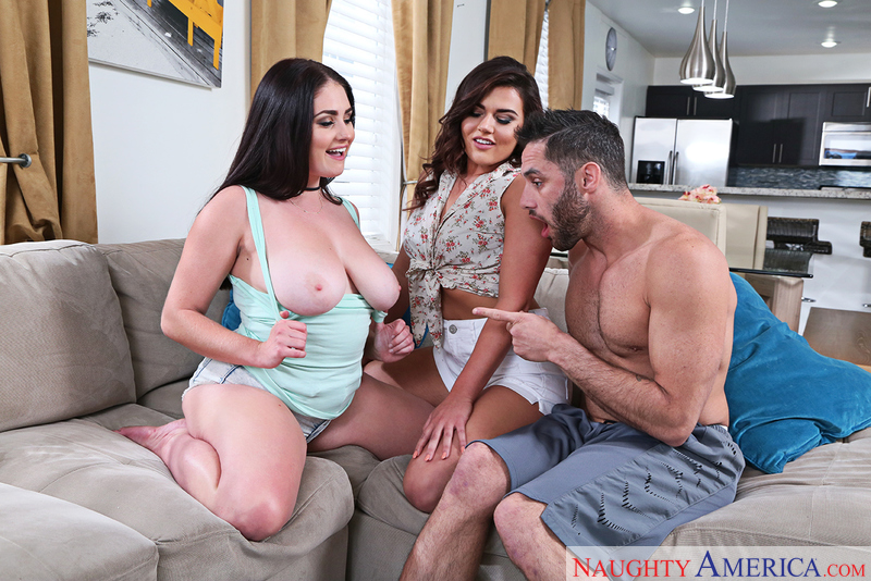 Lennox Luxe fucking in the living room with her medium tits - Sex Position 1