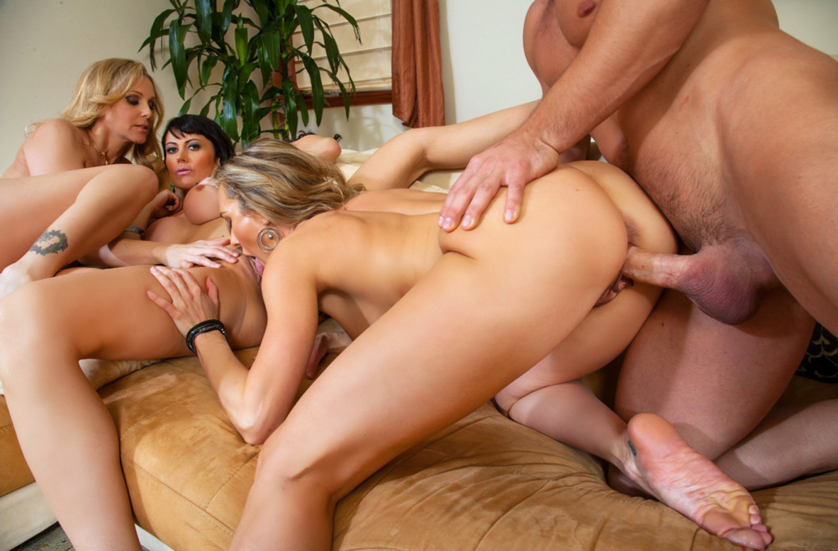 Watch Brandi Love, Eva Karera, Julia Ann and Johnny Castle video in My Friend's Hot Mom