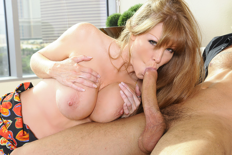 Curvy Darla Crane fucking in the couch with her big tits