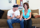 Petite MILF Deauxma fucking in the couch with her petite - Sex Position 2