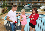 Diamond Foxxx & Marsha May & Levi Cash in My Friend's Hot Mom