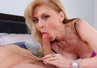 Petite Nina Hartley fucking in the bed with her petite - Blowjob