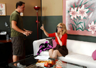 MILF Nina Hartley fucking in the couch with her glasses - Sex Position 1