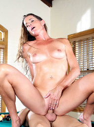 Bad Girl & Friend's Mom Porn Video with American and Athletic Body scenes