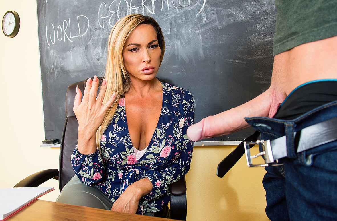 Watch Aubrey Black and Justin Hunt 4K video in My First Sex Teacher