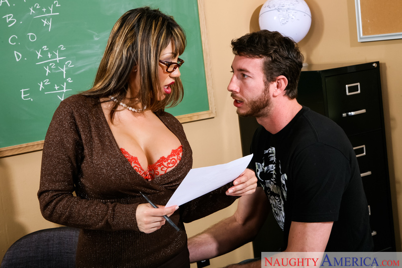 Ava Devine fucking in the classroom with her tits - Sex Position 2