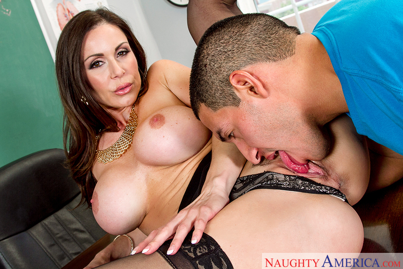 Teacher Kendra Lust fucking in the desk with her innie pussy - Sex Position 2