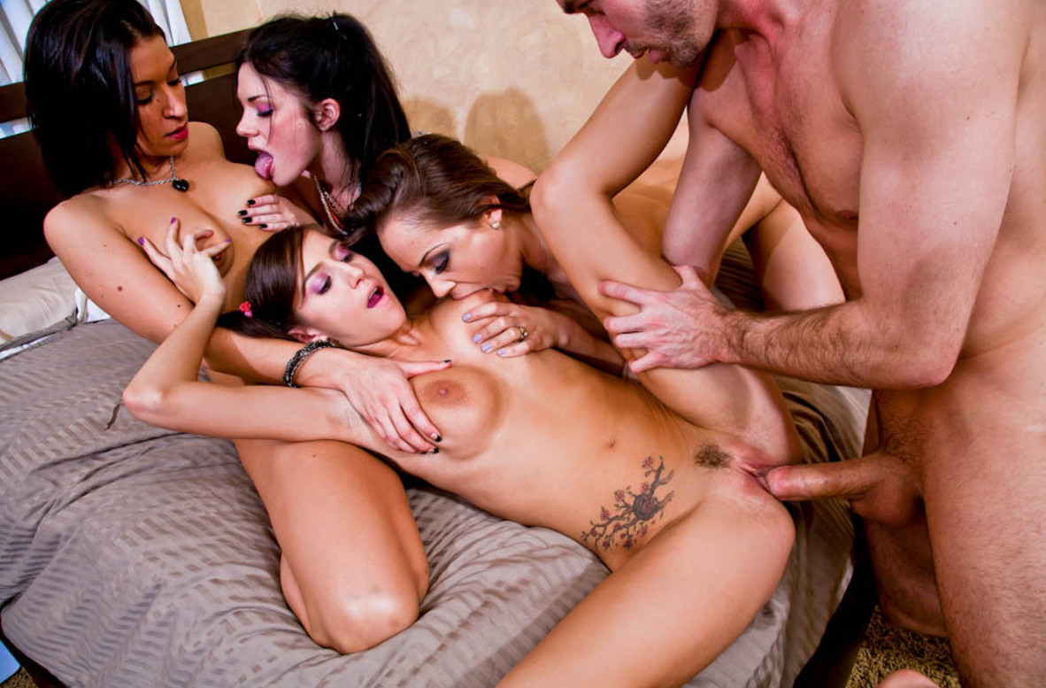 Watch Andy San Dimas, Ann Marie Rios, April O'Neil, Kristina Rose and James Deen video in My Sister's Hot Friend