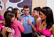 Andy San Dimas & Ann Marie Rios & April O'Neil & Kristina Rose & James Deen in My Sister's Hot Friend