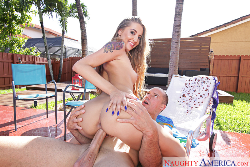 Avery Adair fucking in the patio furniture with her tattoos - Sex Position 2
