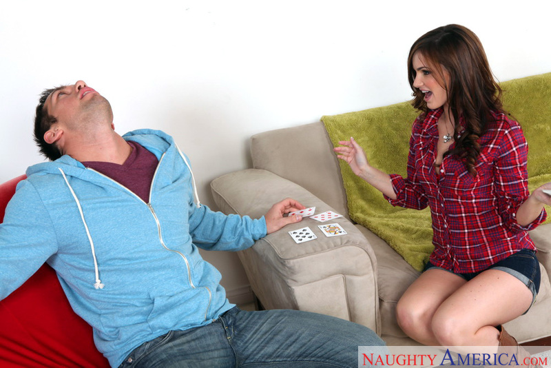 Lily Carter fucking in the living room with her small tits - Sex Position 1