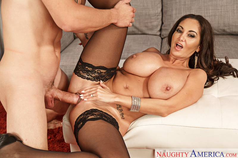 Ava Addams fucking in the couch with her medium ass - Blowjob