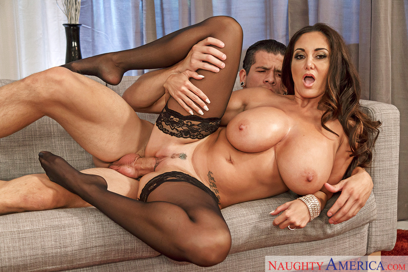 Ava Addams fucking in the couch with her medium ass - Sex Position 3