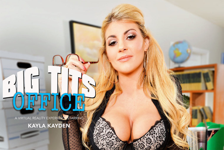 Kayla Kayden fucking in the office with her big tits vr porn
