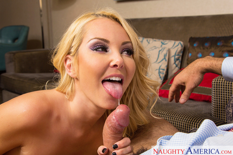 Blonde Aaliyah Love fucking in the hotel with her small tits - Sex Position 1
