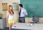 Co-ed Faye Reagan fucking in the classroom with her big tits - Sex Position 1