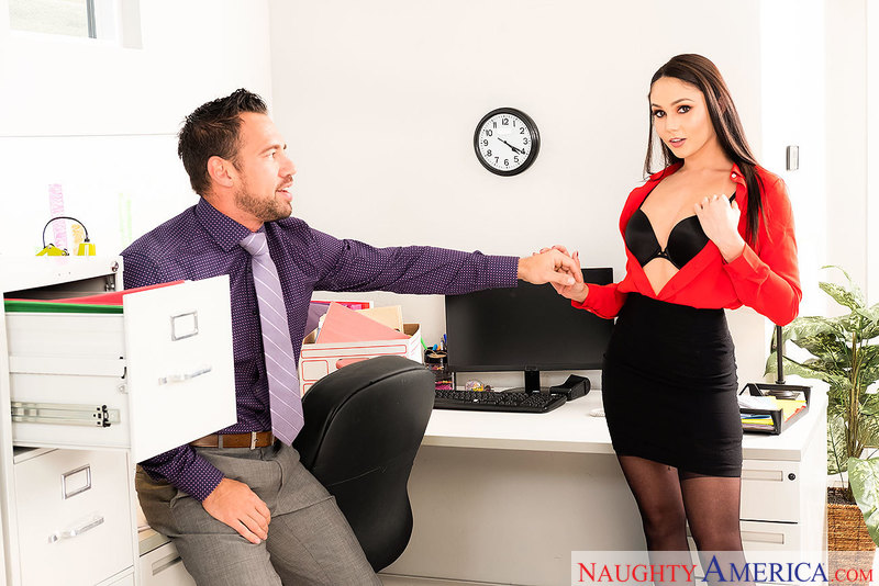 Ariana Marie gets promoted, fucked hard and cum-coated - Sex Position 1