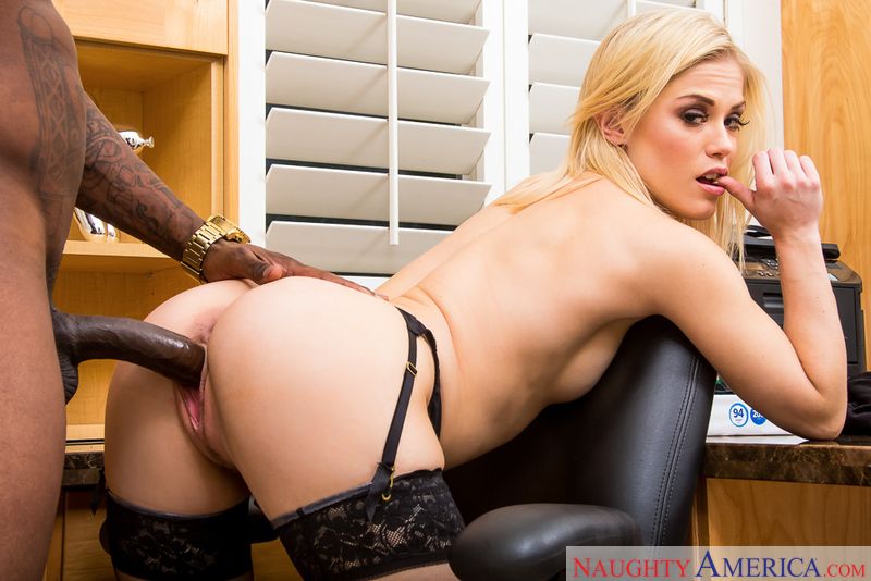 Bad girl Ash Hollywood fucking in the chair with her petite - Sex Position 3