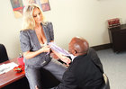 Bad girl Julia Ann fucking in the office with her tattoos - Sex Position 1