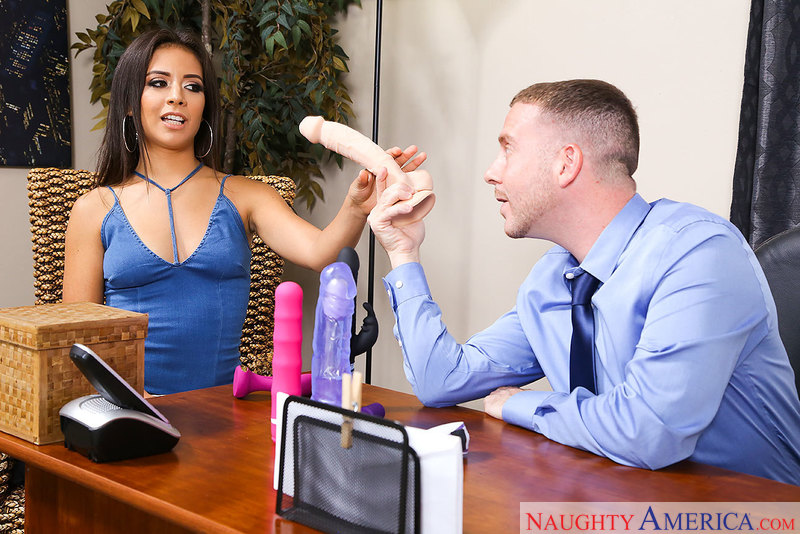Jynx Maze replaces office dildos with her boss's big dick - Sex Position 1
