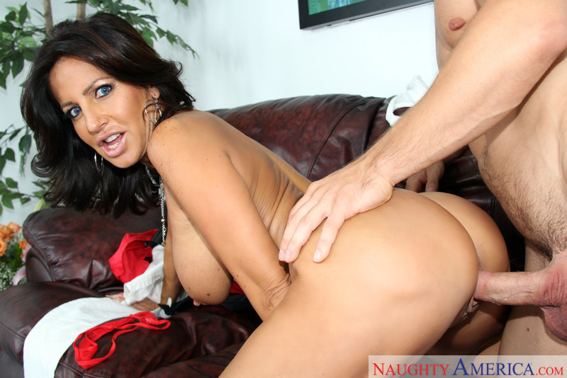 Tara Holiday fucking in the couch with her big tits - Sex Position 3
